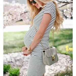 Madeleine Maternity striped dress size L